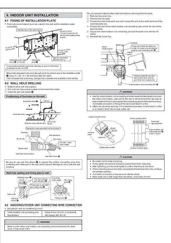 Mitsubishi Msz Gb50va Muz Gb50va Wall Air Conditioner Manual Guide