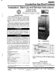 Carrier 58DRC 3SI Gas Furnace Owners Manual page 1