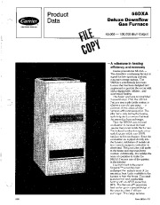 Carrier 58DXA 1PD Gas Furnace Owners Manual page 1