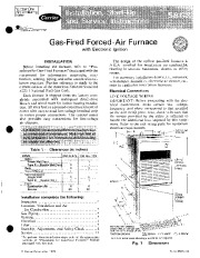 Carrier 58GS 2SI Gas Furnace Owners Manual page 1