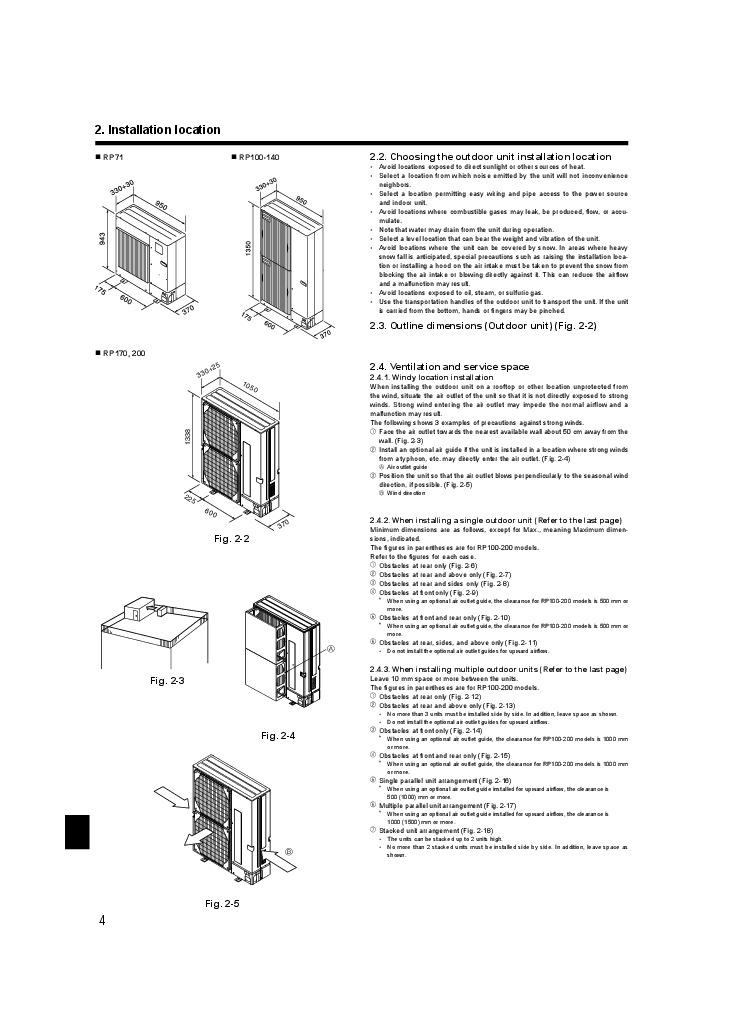 mitsubishi puhz rp ha2 ha3 puhz rp ka air conditioner installation manual. Black Bedroom Furniture Sets. Home Design Ideas