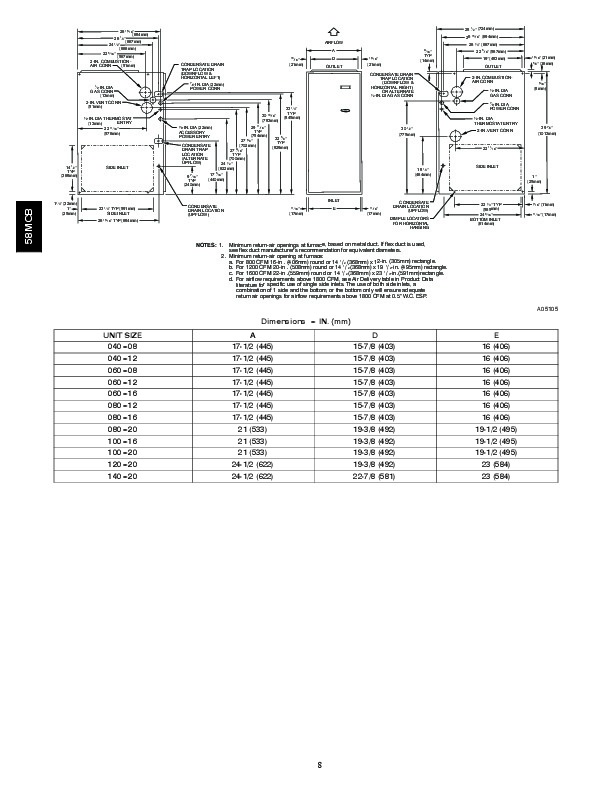 carrier 58mcb 3pd gas furnace owners manual Carrier Furnace MCB Carrier Furnace MCB