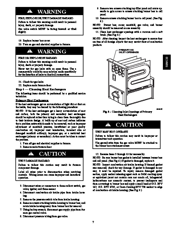 carrier 58mcb 2sm gas furnace owners manual RainSoft Installation Manual 58MXB Carrier Furnace Model