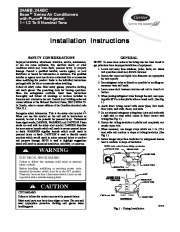 Carrier 24abb C 5si Heat Air Conditioner Manual page 1