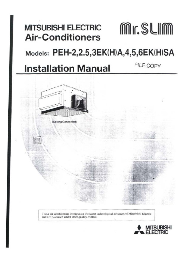 mitsubishi electric air conditioning control manual