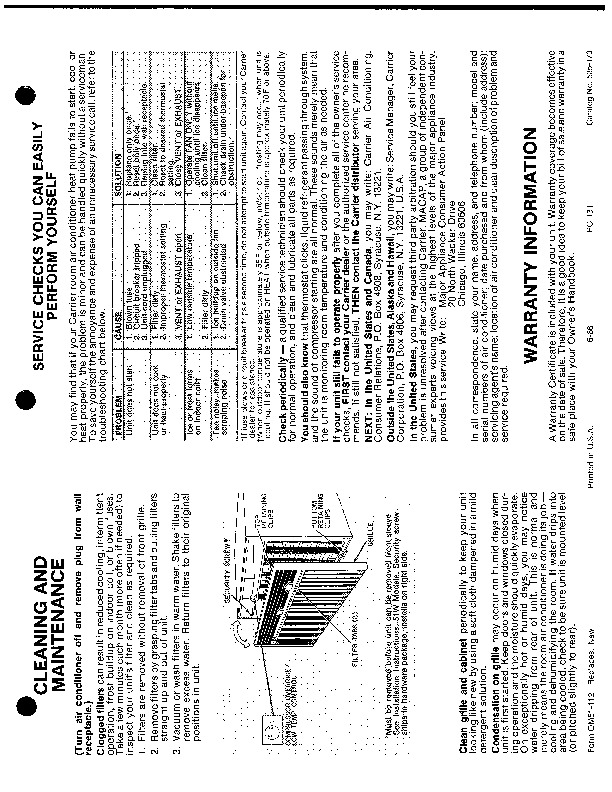 general air conditioner service manuals free download