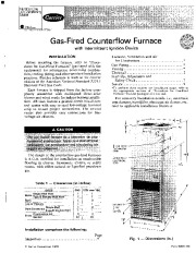 Carrier 58DR 1SI Gas Furnace Owners Manual page 1