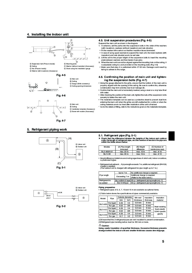 mitsubishi mr slim bg79u163h01 slz a09 a12 a18ar ceiling cassette mitsubishi mr slim bg79u163h01 slz a09 a12 a18ar ceiling cassette air conditioner installation instructions manual page