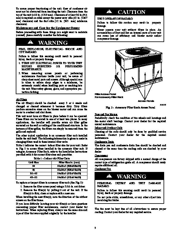 Carrier Pa3g 01 Heat Air Conditioner Manual Manual Guide