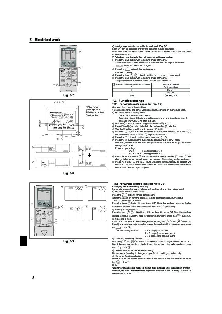 mitsubishi mr slim bg79u156h02 rla rp aa ceiling cassette air rh needmanual com Mitsubishi Mr. Slim Air Conditioner Mitsubishi Mr. Slim Remote Control Symbols