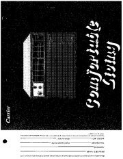 Carrier 51 105 Heat Air Conditioner Manual page 1