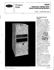 Carrier 58SXB 2PD Gas Furnace Owners Manual page 1
