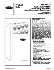 Carrier 58DL 2PD Gas Furnace Owners Manual page 1
