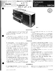 Carrier 58CH 5P Gas Furnace Owners Manual page 1