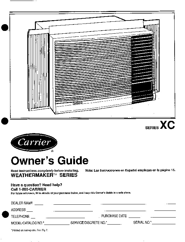 carrier expression air conditioner manual