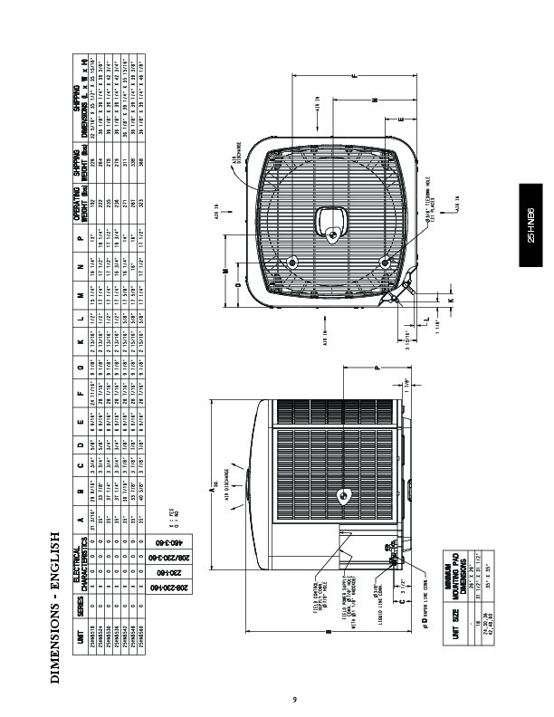 carrier 25hnb5 1pd heat air conditioner manual
