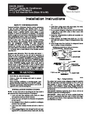 Carrier 24acb C 2si Heat Air Conditioner Manual Owners Manual page 1