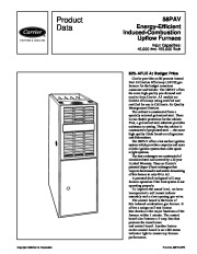Carrier 58PAV 9PD Gas Furnace Owners Manual Owners Manual page 1