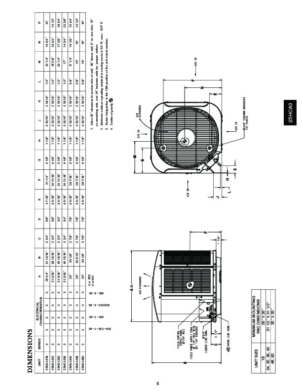 carrier 25hca3 2pd heat air conditioner manual