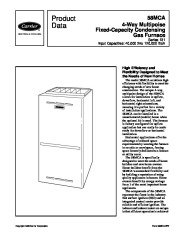Carrier 58MCA 5PD Gas Furnace Owners Manual page 1