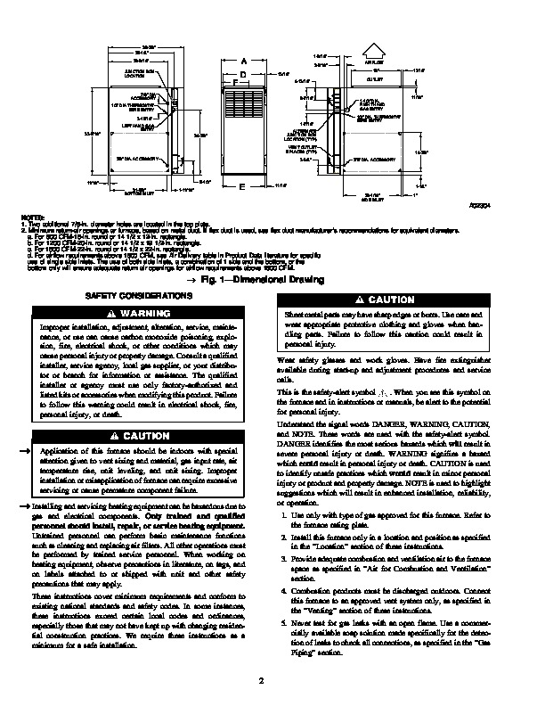 Carrier 58st 11si Gas Furnace Owners Manual