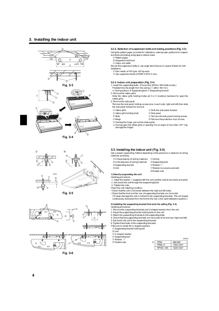 mitsubishi mr slim rg79d451h01 pch rp ka ceiling suspended air conditioner installation manual