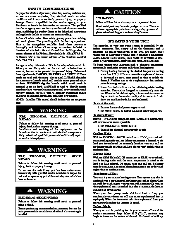 carrier puron air conditioner manual