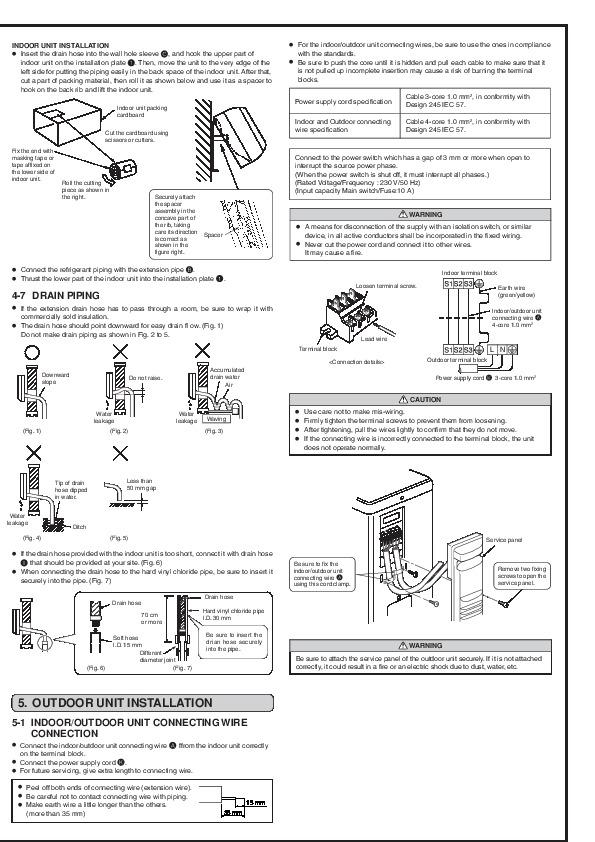 Mitsubishi msz ga22 ga25 ga35va muz ga25 ga35va wall air conditioner mitsubishi msz ga22 ga25 ga35va muz ga25 ga35va wall air conditioner installation manual page 5 publicscrutiny Images