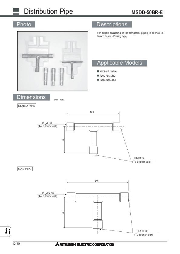 mitsubishi 2008 air conditioner optional parts manual