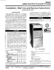 Carrier 58GSC 6SI Gas Furnace Owners Manual page 1