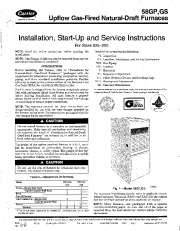 Carrier 58GP 58GS 3SI Gas Furnace Owners Manual page 1