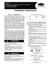 Carrier 24apa7 2si Heat Air Conditioner Manual page 1
