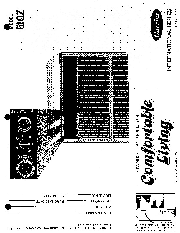 carrier 51 121 heat air conditioner manual