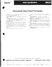 Carrier 58CH 1GS Gas Furnace Owners Manual page 1