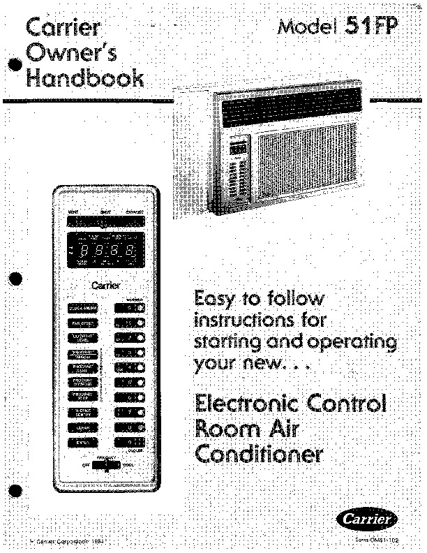 carrier 51 102 heat air conditioner manual