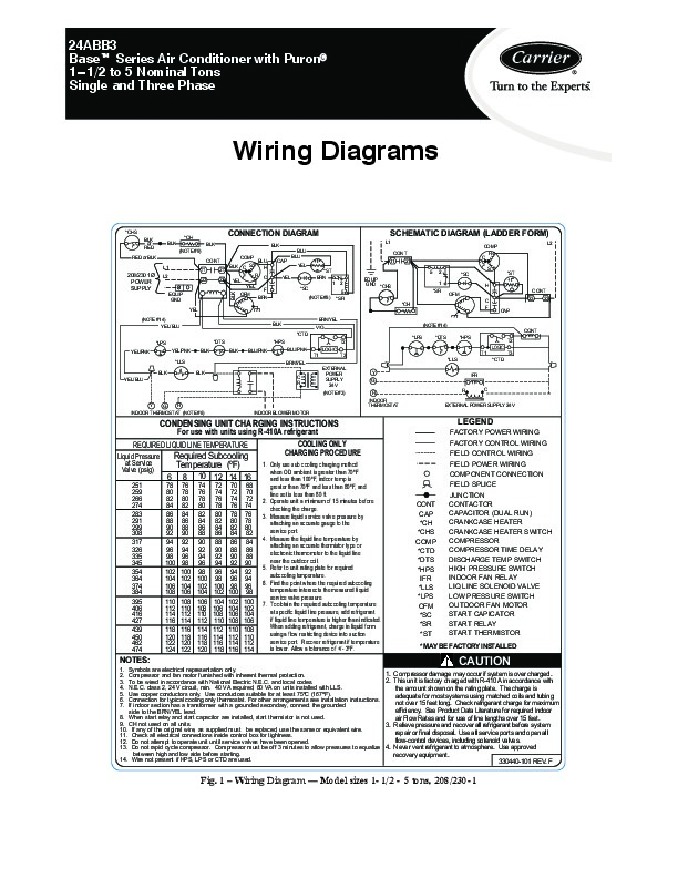 carrier 3 phase wiring diagram carrier 24abb 3 1w heat air conditioner manual #13