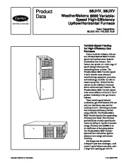 Carrier 58UHV 1PD Gas Furnace Owners Manual page 1