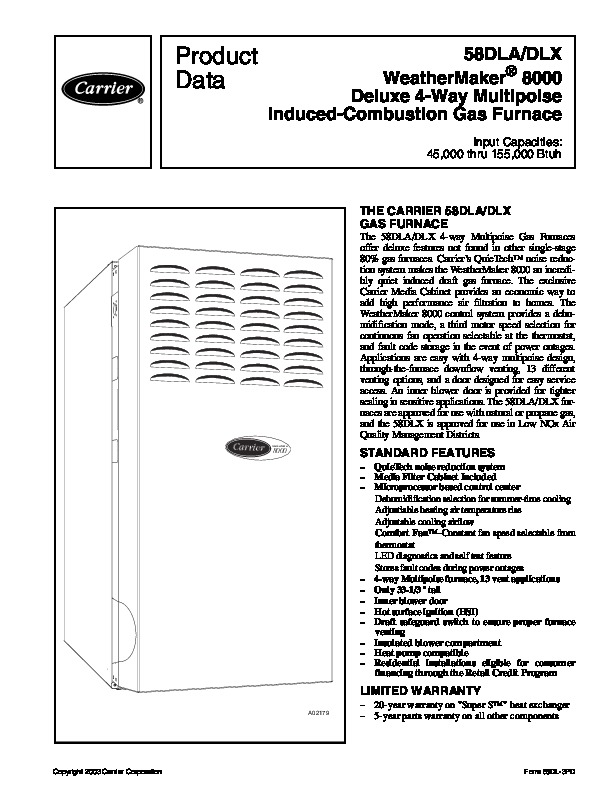carrier 58dl 3pd gas furnace owners manual rh hvac needmanual com carrier owners manual for 40mhhq18 carrier owner's manual for 48kcla06a2a50a0a0