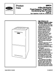 Carrier 58MCA 6PD Gas Furnace Owners Manual page 1