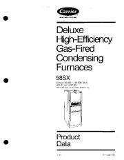 Carrier 58SX 3PD Gas Furnace Owners Manual page 1
