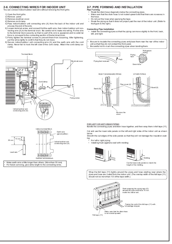 Mitsubishi JG79A145H03 Floor Mounted Air Conditioner Installation Manual  Page 4