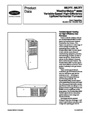 Carrier 58UHV 2PD Gas Furnace Owners Manual page 1