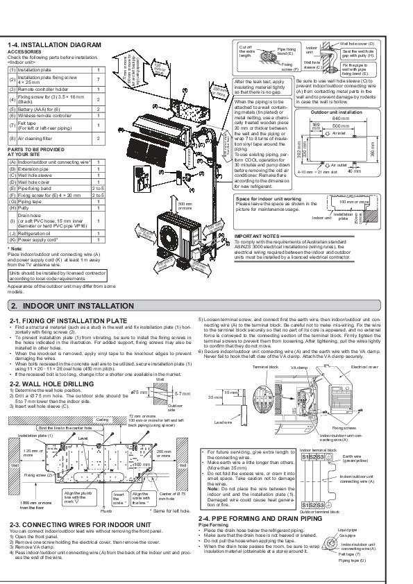 Mitsubishi jg79a167h02 wall air conditioner installation manual mitsubishi jg79a167h02 wall air conditioner installation manual page 2 publicscrutiny Images