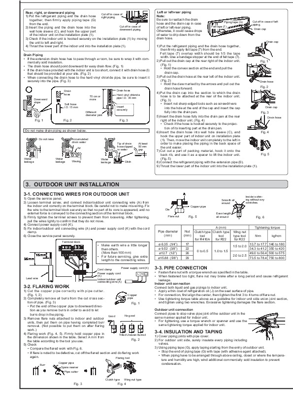 mitsubishi jg79a167h02 wall air conditioner installation manual rh needmanual com sharp air conditioner installation manual sharp air conditioner installation manual