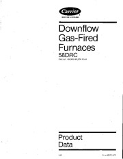 Carrier 58DRC 1PD Gas Furnace Owners Manual page 1