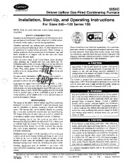Carrier 58SXC 3SI Gas Furnace Owners Manual page 1