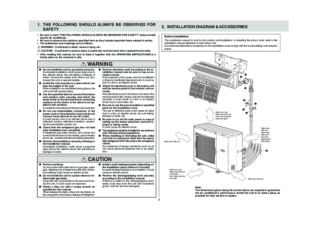 Mitsubishi MXZ A26 32WV Air Conditioner Owners Installation Manual 2 mr slim wiring diagram light switch wiring diagram  at bayanpartner.co