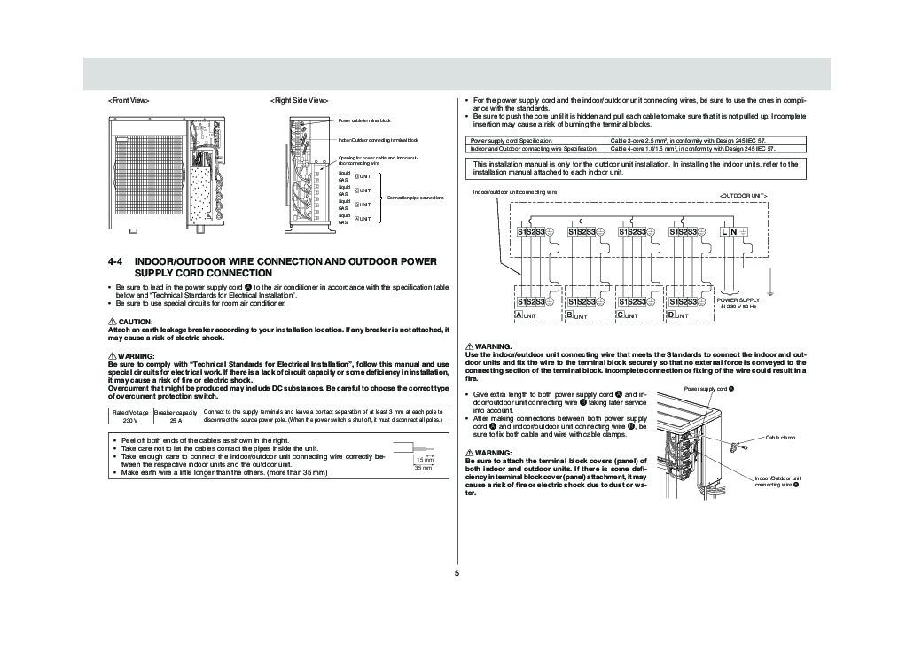 Mitsubishi mxz 4a80va air conditioner installation manual mitsubishi mxz 4a80va air conditioner installation manual page 5 publicscrutiny Images