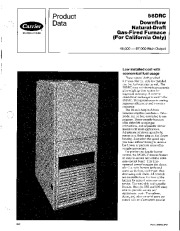 Carrier 58DRC 3PD Gas Furnace Owners Manual page 1