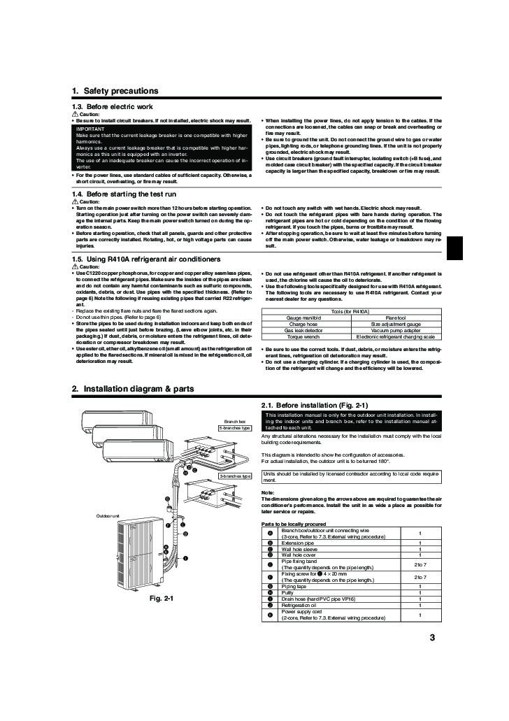 Mitsubishi Mr Slim Pea Mxz 8a140va Air Conditioner Manual Guide